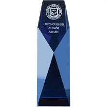 Five-Star Blue Crystal Award, 7-1/2""