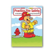Practice Fire Safety Coloring Book, Stock