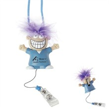 Goofy Medical Retractable Badge Holder, Slide Clip & Lanyard