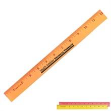 "Fluorescent Wood Ruler, 12"""