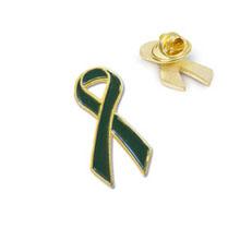 Green Ribbon Lapel Pin