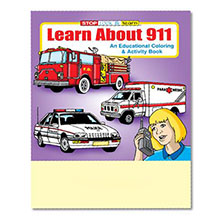 Learn About 911 Coloring & Activity Book, Stock