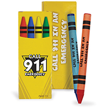 Four Pack Crayons, Dial 911 Stock
