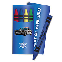 Four Pack Crayons, Police Car Stock