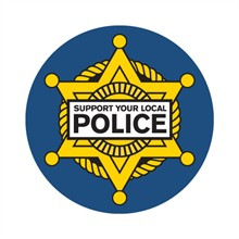 Support Your Local Police Sticker Roll, Stock - Closeout, On Sale!