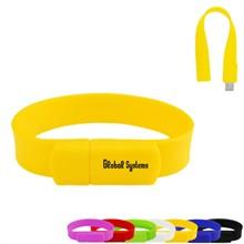 Rubberized Wrist Band USB Flash Drive, 1GB - Free Shipping!