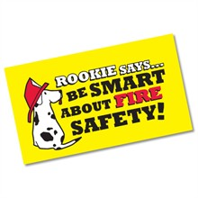 Be Smart About Fire Safety, Stock Business Card Magnet - Closeout!