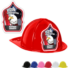 Custom Kid's Junior Firefighter Hat, Patriotic Eagle Design