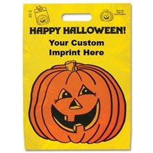 Halloween Bag - Yellow, Happy Pumpkin