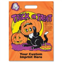 Reflective Halloween Bag - Orange, Cat Design