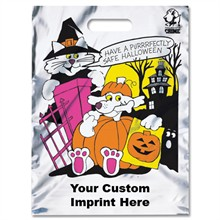 Reflective Halloween Bag - Silver, Cat & Dog Design