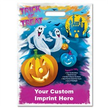 Halloween Bag - Full Color, Ghost & Pumpkin Design