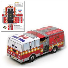 Large Pop Up Fire Truck, Stock
