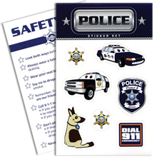 Police Sticker Sheet, Stock