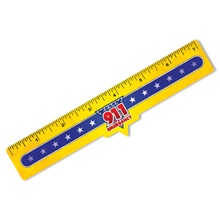 Safety Laminated 911 Ruler, Stock