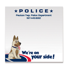 Police, We're On Your Side, 25 Sheet Sticky Pad