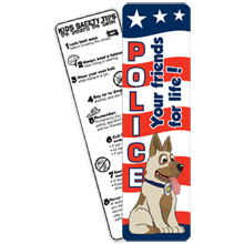 Police Dog Bookmark, Stock