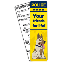 Police, Your Friends For Life Bookmark, Stock