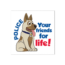 Police Dog Temporary Tattoo, Stock