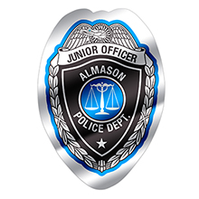 Junior Officer Foil Sticker Badge, Custom