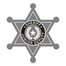 Junior Sheriff 6 Point Deputy Foil Sticker Badge, Stock