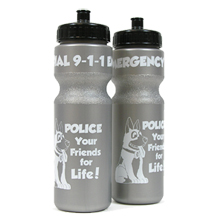 Police Bike Bottle 28oz., Stock