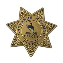 Junior 7 Point Sheriff Star Badge with Pocket Clip, Custom