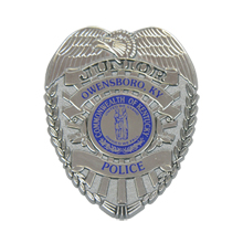 Junior Police Shield Badge with Pocket Clip, Custom
