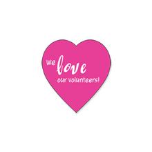 "Heart Shape Custom Sticker, 1-3/16"""