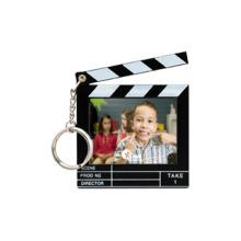 Clapboard Snap-In Photo Keytag, Black