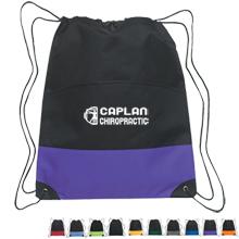 Bold Stripe Polyester Drawstring Sports Pack