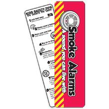 Smoke Alarms Bookmark, Stock- Closeout, On Sale!