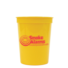 Smoke Alarms A Sound You Can Live Stadium Cup, Stock, 16oz.