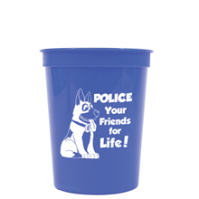 Police Your Friends For Life Stadium Cup, Stock, 16oz.