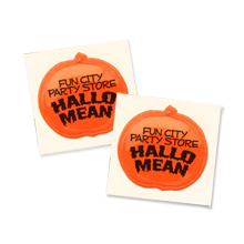 Halloween Reflective Pumpkin Sticker, Custom