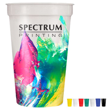Smooth Stadium Cup with a Full Color Imprint, 17oz.