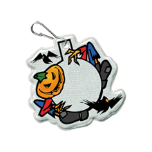 Halloween Reflective Hook Zipper Pull, Scarecrow - Stock