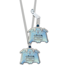 Halloween Reflective Ghost Neck Tag