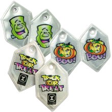 Halloween Six-Point Reflective Shoe Lace Tags, Custom