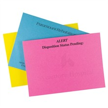 """Hyper Colored 50 Sheet Adhesive Note Pads, 4"""" x 3"""""""