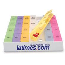 "Rainbow Jumbo Medicine Tray, 8-3/4"""