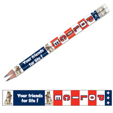 Police Your Friends for Life, Patriotic Full Color Pencil, Stock
