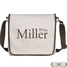 Natural Recycled Cotton Messenger - Free Set Up Charges!