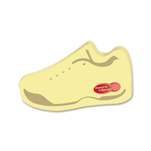 Post-it® XL Custom Printed Die-Cut Notes - Tennis Shoe Shape