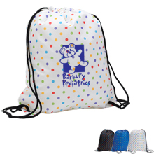 Lots-A-Dots Drawstring Tote, Polka Dots Design