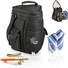 Meritage Wine & Cheese Insulated Cooler Tote Set - Solid Colors