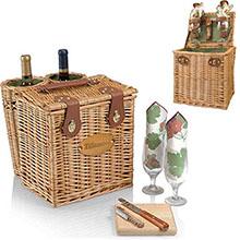 Vino Wine & Cheese Picnic Basket Set