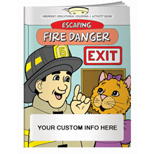Escaping Fire Danger Coloring & Activity Book