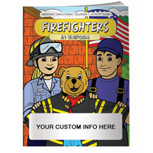 Firefighters in Uniform Coloring & Activity Book