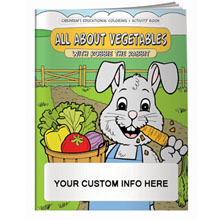 All About Vegetables w/ Robbie the Rabbit Coloring & Activity Book